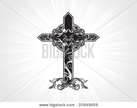 vector illustration of celtic pattern isolated cross
