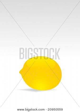 background with isolated lemon, vector image