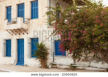 Locked old house in Greece