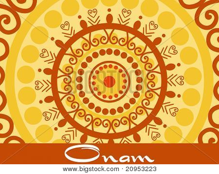 creative artwork pattern background for onam celebration