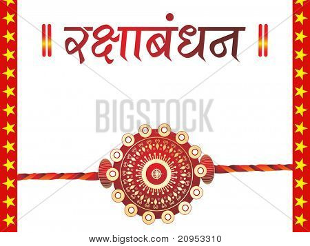 white background with isolated rakhi