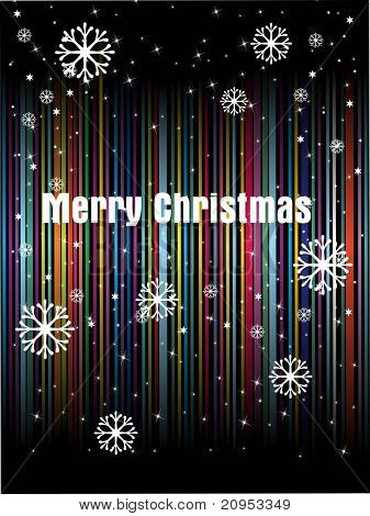 abstract colorful lines background with snowflake