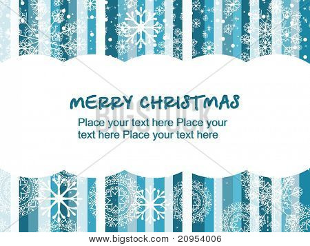 colorful lines background with snowflake for merry christmas