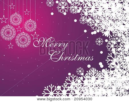 purple snowflake background for christmas day