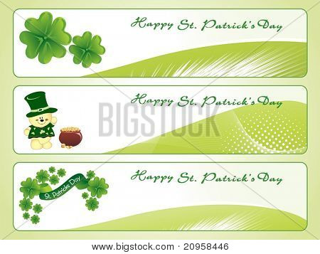 vector illustration of st patrick day banner