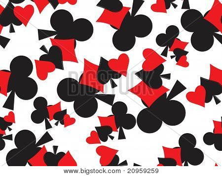vector illustration of playing cards background
