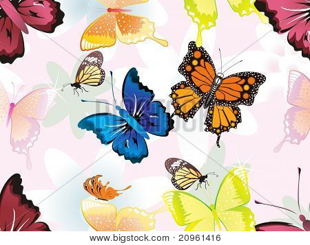 abstract colorful butterfly pattern background, illustration