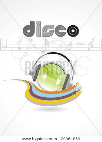 vector illustration of stylish disco background