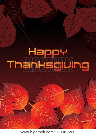 beautiful autumn background for happy thanksgiving day