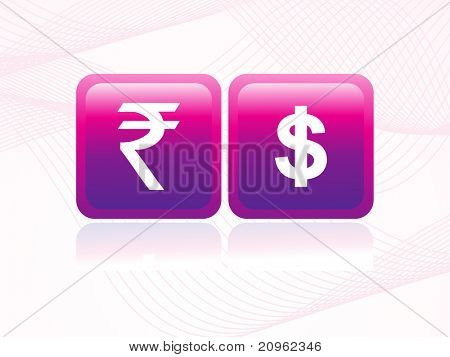 background with isolated indian rupee symbol,illustration