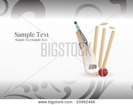 abstract illustration of cricket background