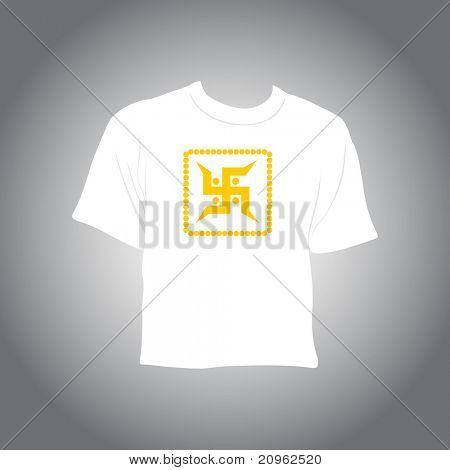 background with isolated t_shirt, illustration
