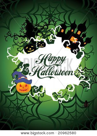 vector illustration of happy halloween background, illustration