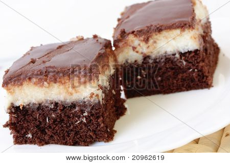 Sweet Cake Chocolate And Coco Dessert Food