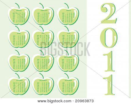 2011 calender for medical sector, illustration