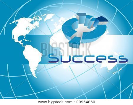 vector illustration of successful  corporate background