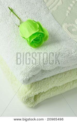 Rose Soap & Towels