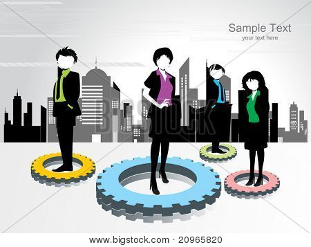 vector illustration of abstract corporate background