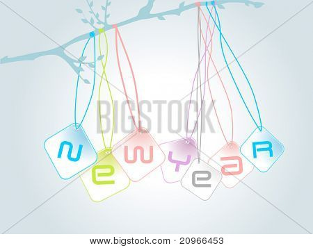 vector abstract artwork illustration for new year 2011
