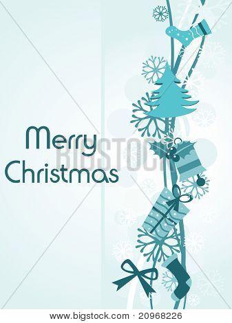 Vektor-Illustration für frohes Weihnachtsfest
