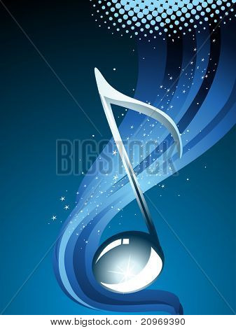 background with musical notes, vector illustration