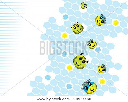 abstracte wetenschap achtergrond met collectie van bacteriën, afbeelding