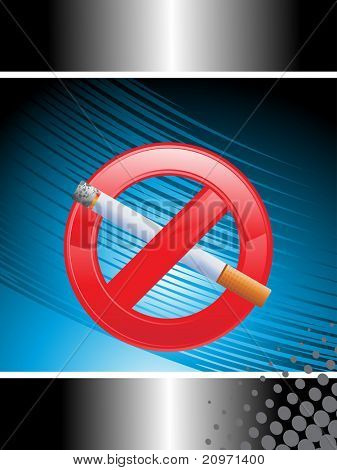 vector illustration of no smoking background