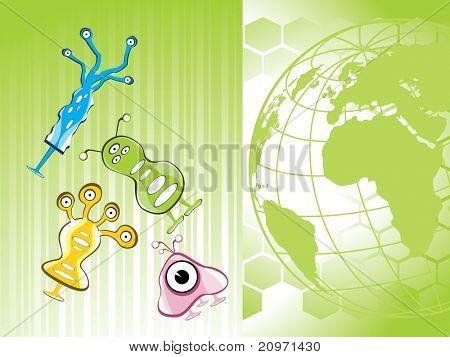 abstracte wereld concept achtergrond met kleurrijke vreemdelingen