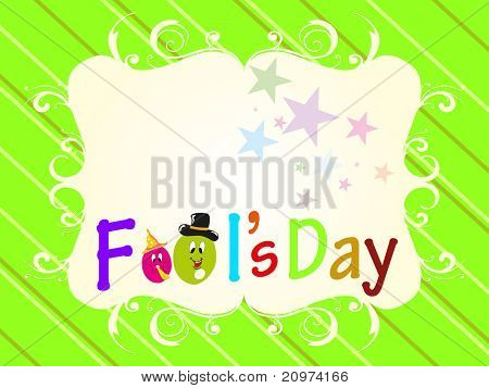 abstract creative colorful artwork background for april fools day, vector illustration