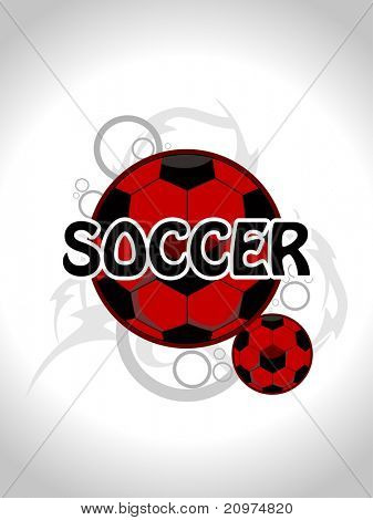 abstract seamless artwork background with set of football