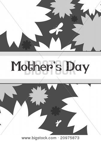 creative design card for wishing mother's day