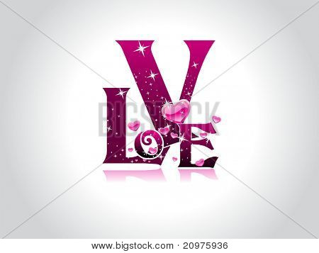 abstract grey background with isolated magenta twinkle star love, romantic heart