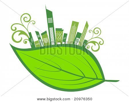 vector illustration of environmental concept wallpaper