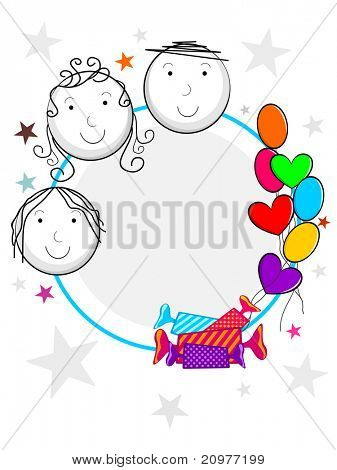 colorful kiddish concept frame for children's day