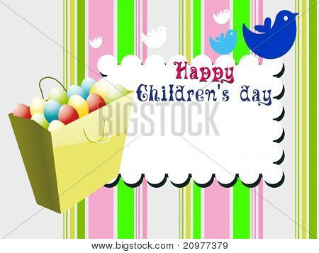 abstract colorful kiddish concept background for children's day