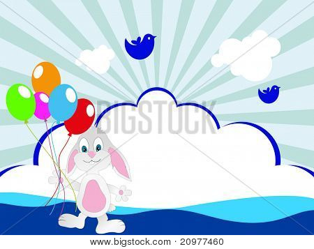 abstract kiddish concept background for happy children's day celebration