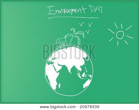 vector world environment day celebration
