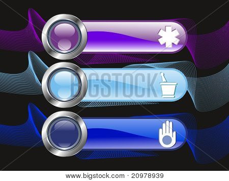 background with set of three medical banner, vector illustration