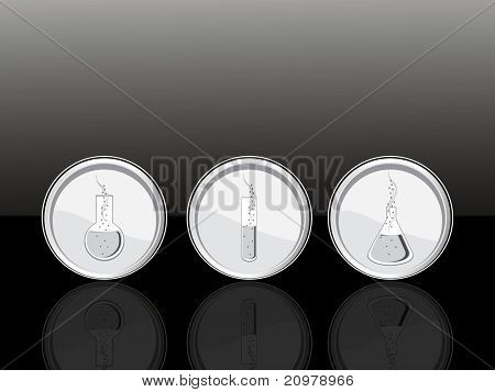 vector illustration set of three medical icons