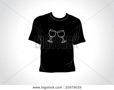 abstract grey panel lines background with isolated black tshirt