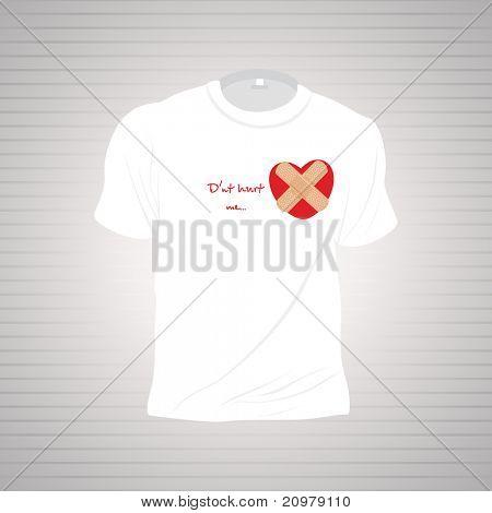 background with isolated tshirt, illustration