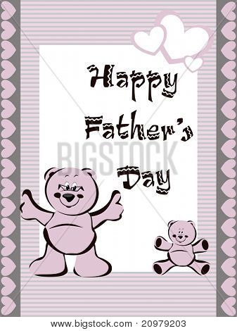 greeting card for wishing dear dad to father day