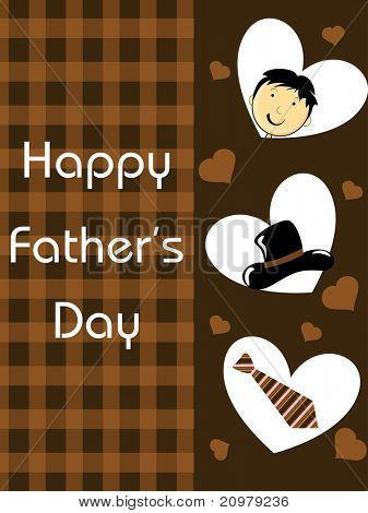 vector greeting card for wishing dear dad to happy daddy day