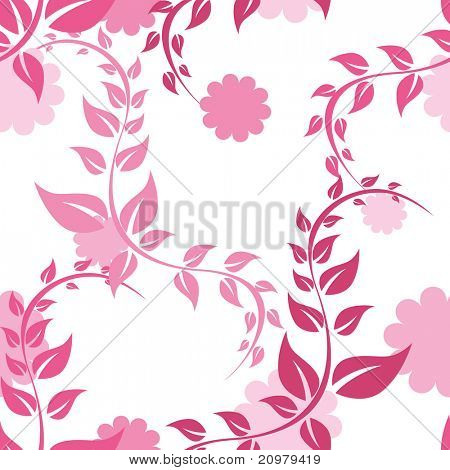seamless pattern with leaf, illustration
