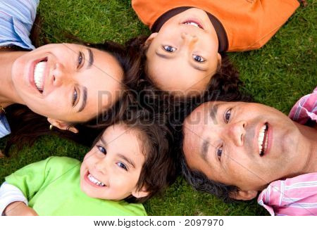 Happy Family On The Floor