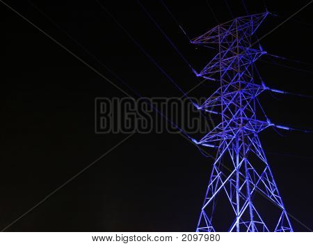Cool Pylon At Night