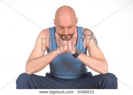 Middle Aged Man, Meditating
