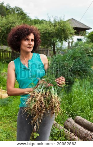 Young Woman With A Sheaf Of Dill