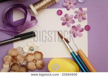 scrapbooking craft materials