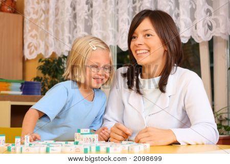 Briefe und Kinder im Vorschulalter
